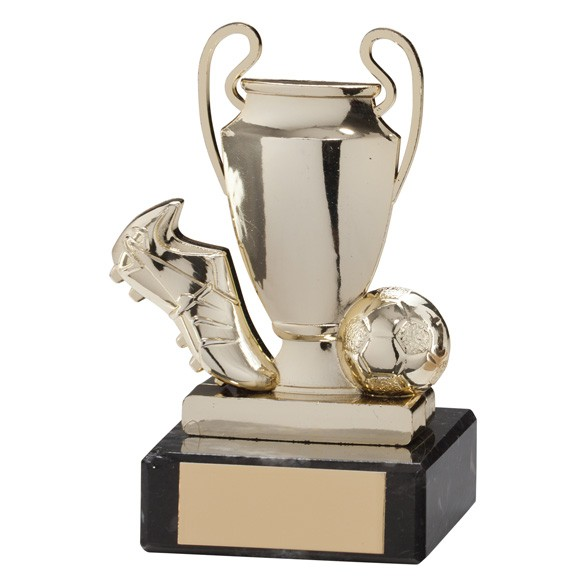 Champions Cup Football Trophy Gold
