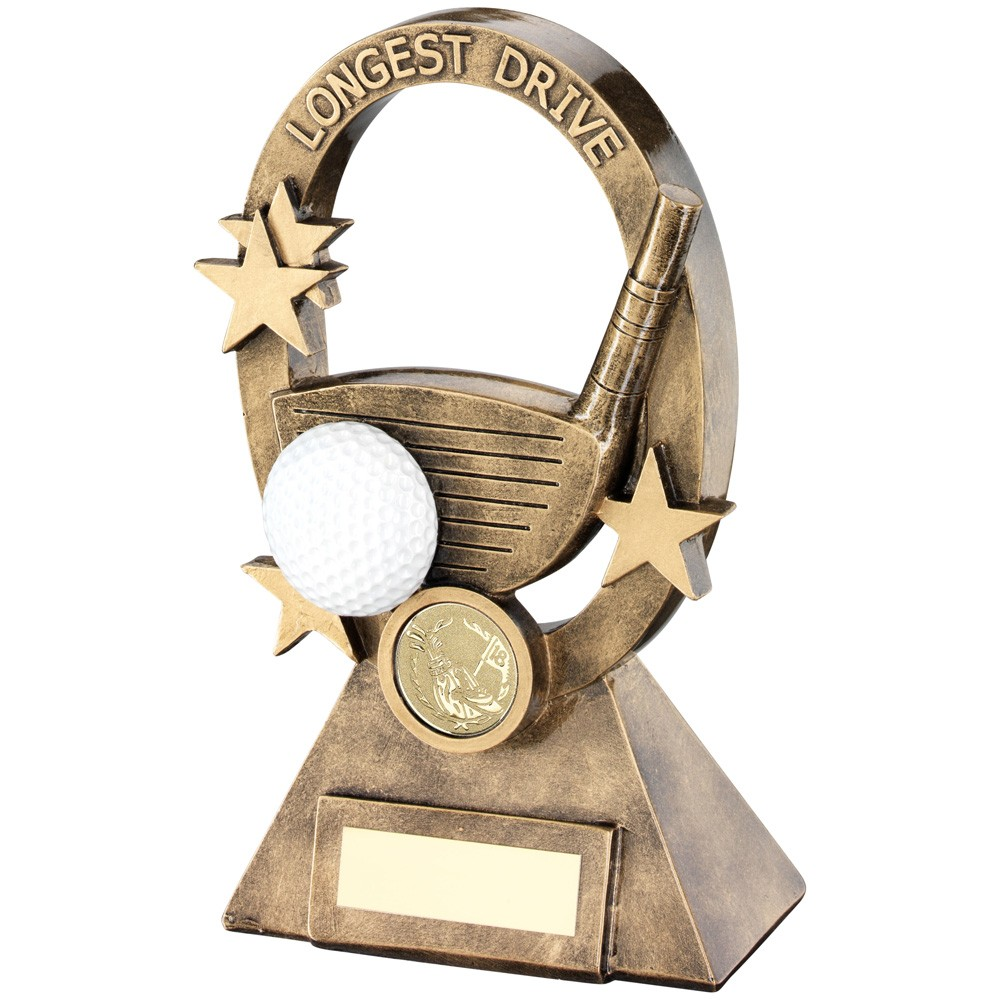 Golf Oval/Stars Series Trophy Longest Drive