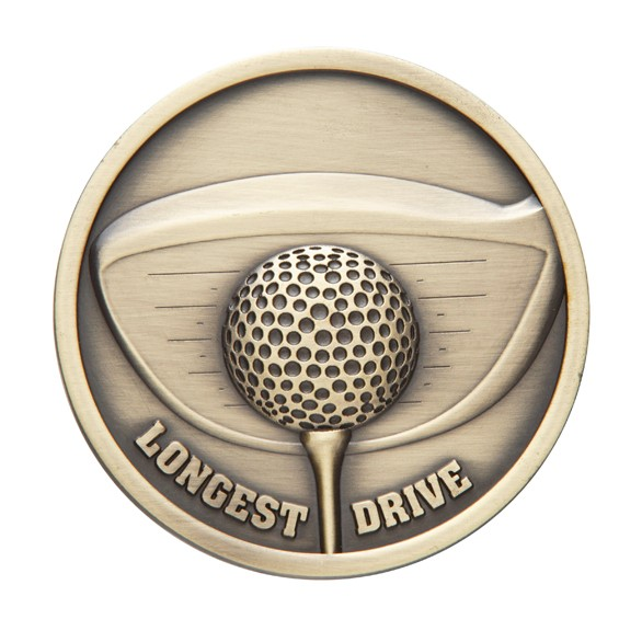 Links Series Longest Drive Golf Medal Gold