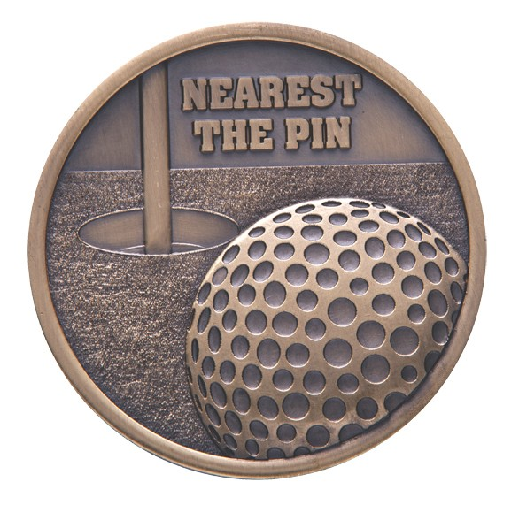 Links Series Nearest The Pin Golf Medal Gold