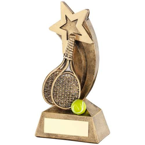 Tennis Rackets/Ball With Shooting Star Trophy