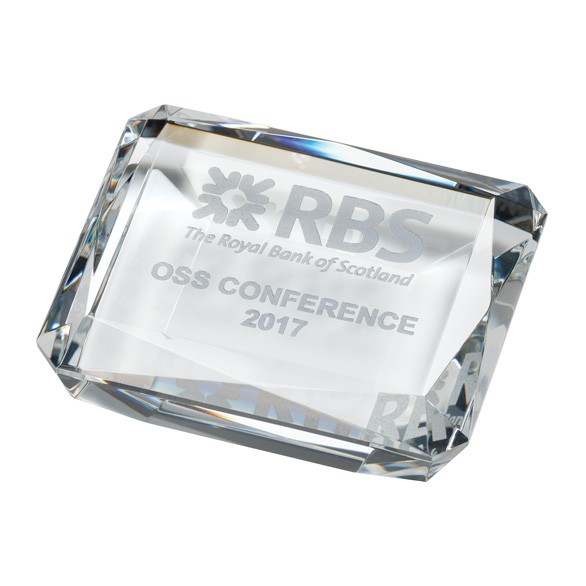 Lincoln Optical Crystal Paperweight