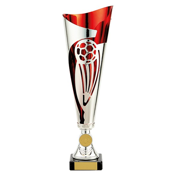 Champions Silver & Red Football Cup
