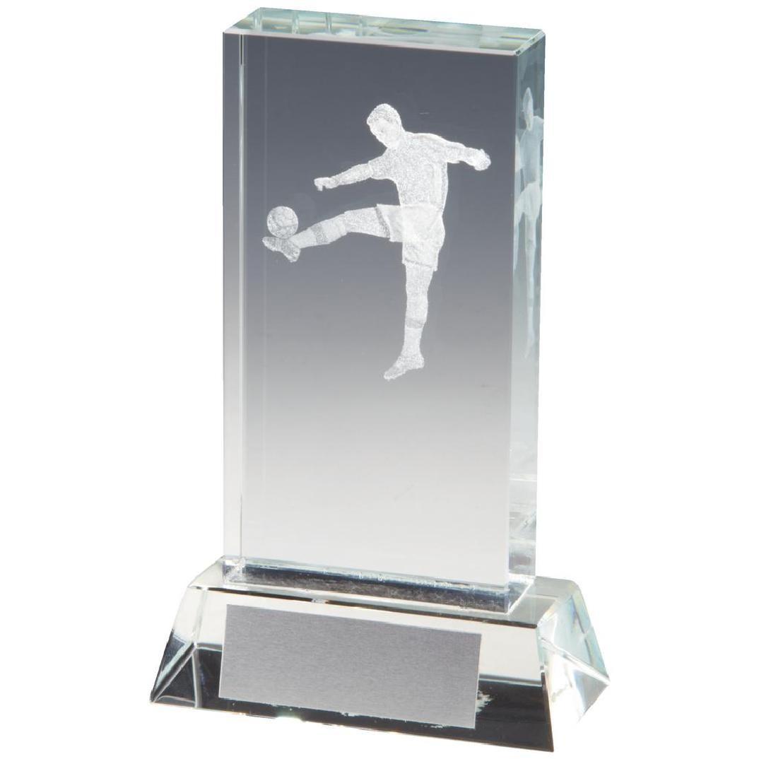 3D Football Glass Trophy
