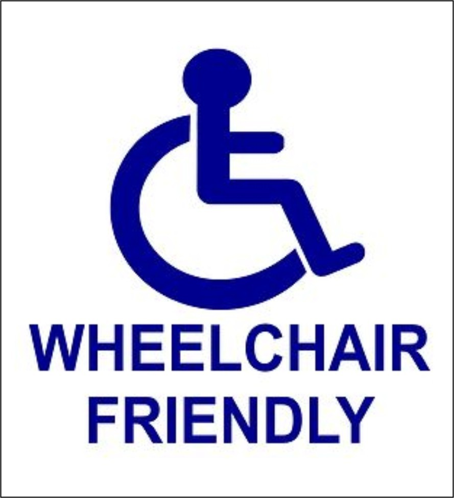 WHEELCHAIR FRIENDLY (Example Sign)
