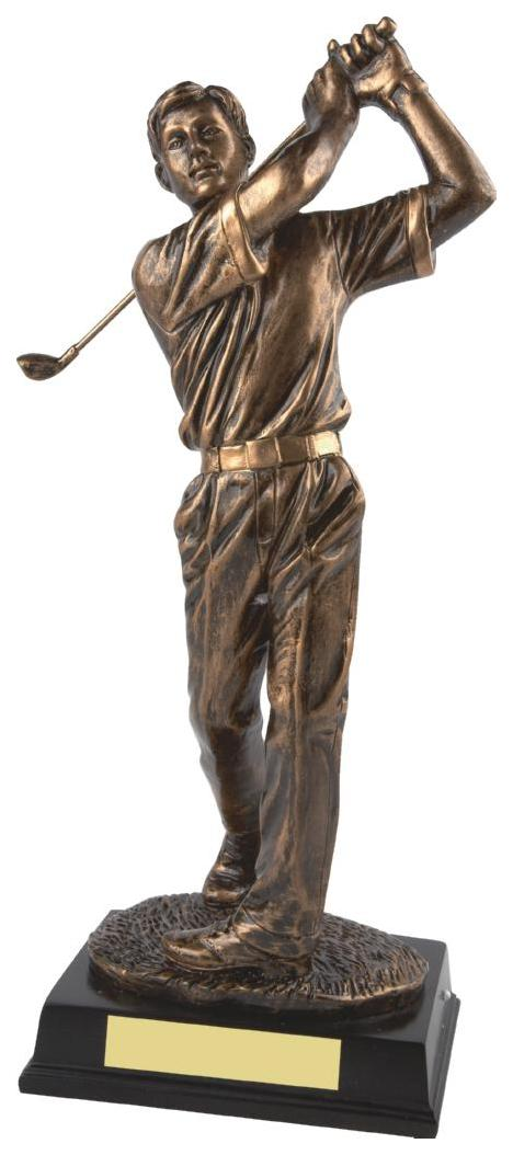 "Gold Figure Men""s Golf Award"