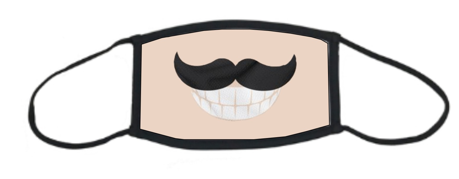 Moustache Smile Face Mask