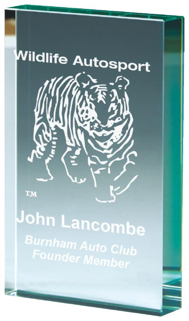 Jade Glass Block Award