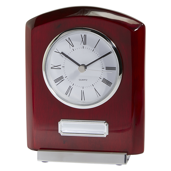 Idaho Crystal & Rosewood Clock Award