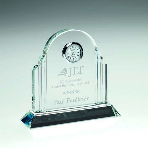 Clear Glass Arched Clock