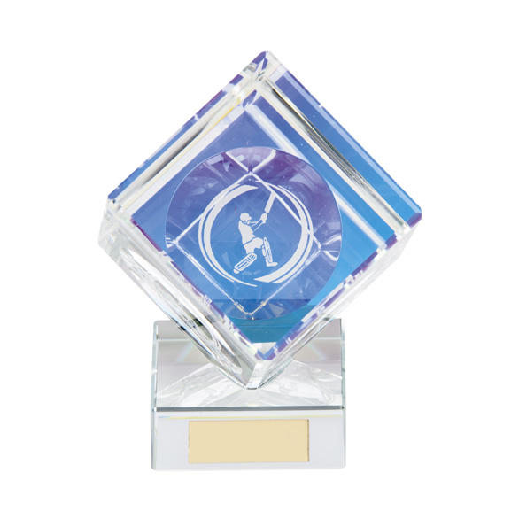 Victorious Cricket Crystal Cube Award