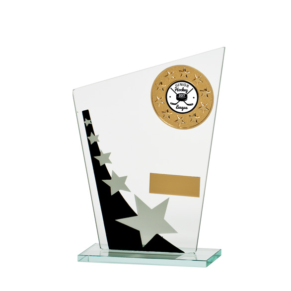 Mega Star Multisport Jade Glass Award Black & Silver