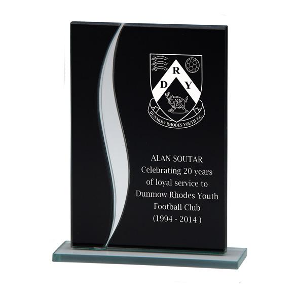 Spirit Mirror Glass Award Black & Silver