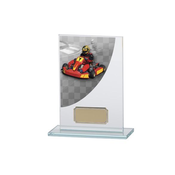 Colour Curve Go-Kart Jade Glass Award