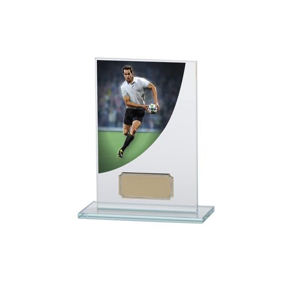 Colour Curve Rugby Jade Glass Award