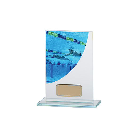 Colour Curve Swimming Jade Glass Award
