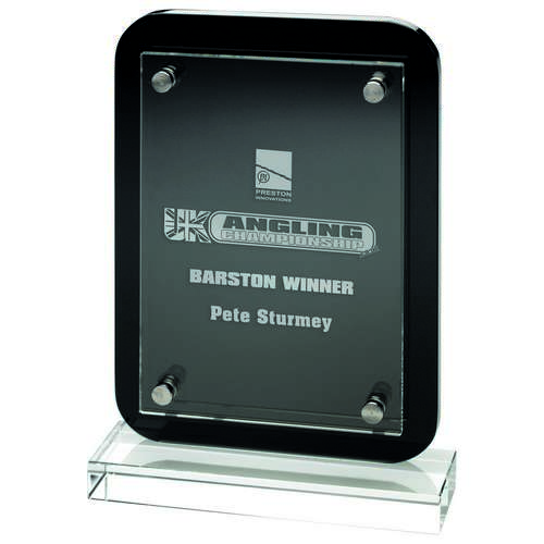 Black Plaque With Clear Base And Removable Front