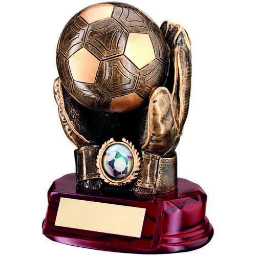 Football Goalkeeper 'Ball In Hands' Trophy