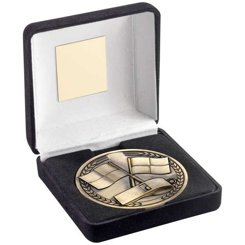 Green Velvet Box And 70mm Medallion Referee