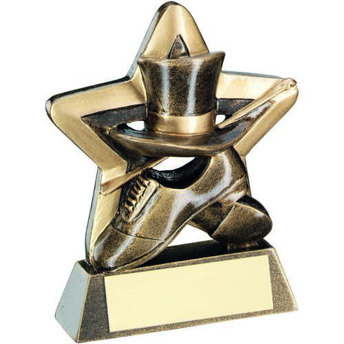 Brz/Gold Top Hat/Gloves/Cane Mini Star Trophy