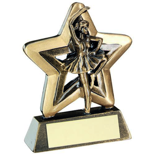 Brz/Gold Ballet Mini Star Trophy