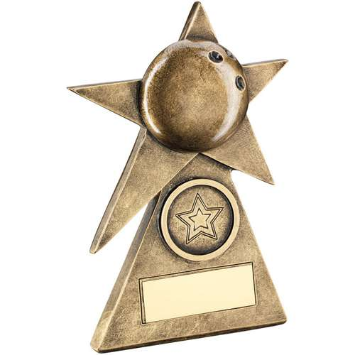 Ten Pin Star On Pyramid Base Trophy