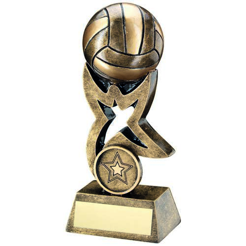 Netball On Star Trophy Riser Trophy