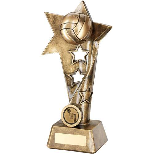 Netball Twisted Star Column Trophy