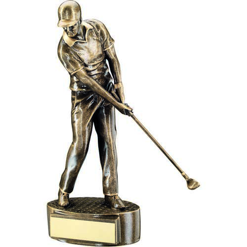 Male 'Mid Swing' Golfer Trophy