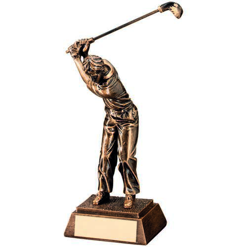 Male 'Back Swing' Golf Trophy