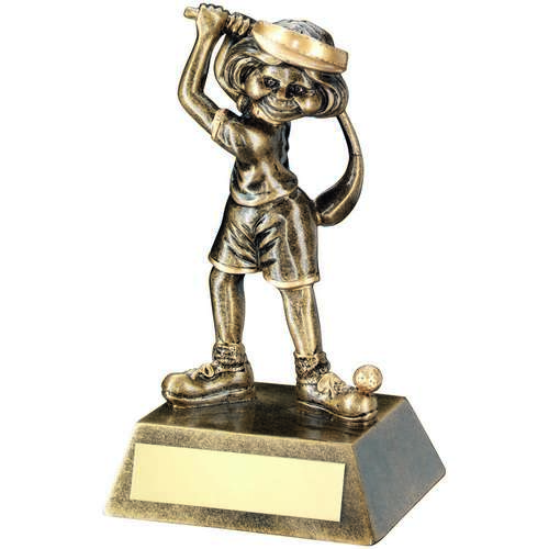 Female Comic Golf Figure Trophy