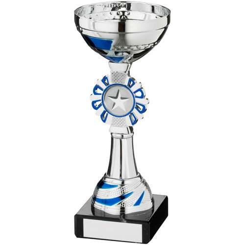 Silv/Blue Round Wreath Trophy