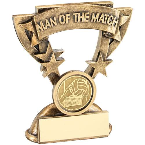 Man Of The Match Mini Cup With Gaelic Football Insert Trophy