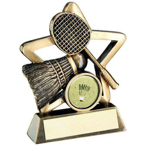 Brz/Gold Badminton Mini Star Trophy ( Centre)