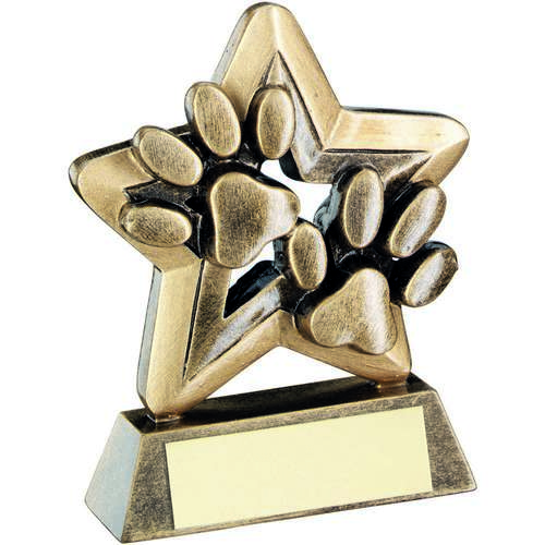 Dog Paws Trophy Mini Star Trophy