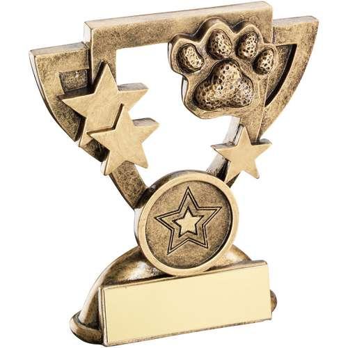 Brz/Gold Dog Paw Mini Cup Trophy ( Centre)
