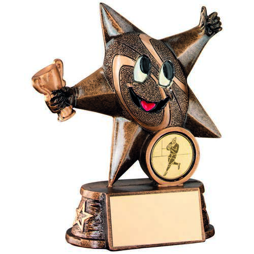 Rugby 'Comic Star' Figure Trophy