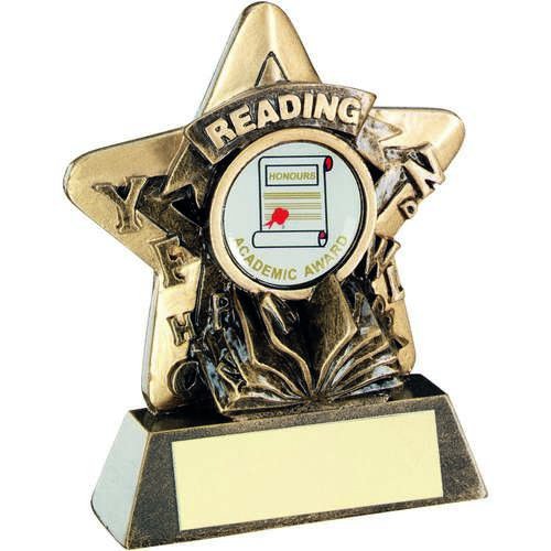 Brz/Gold Reading Mini Star Trophy ( Centre)