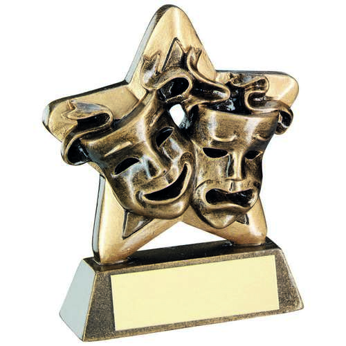 Drama Masks Mini Star Trophy