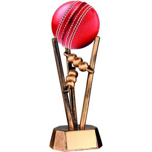 Brz/Gold Resin Cricket Ball Holder