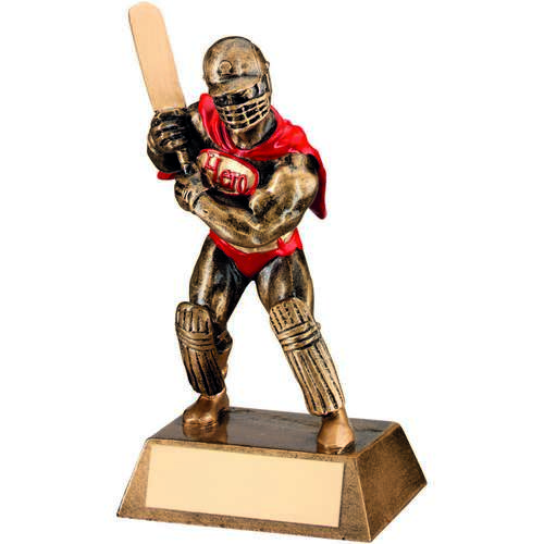 Brz/Gold/Red Resin Cricket 'Hero' Trophy
