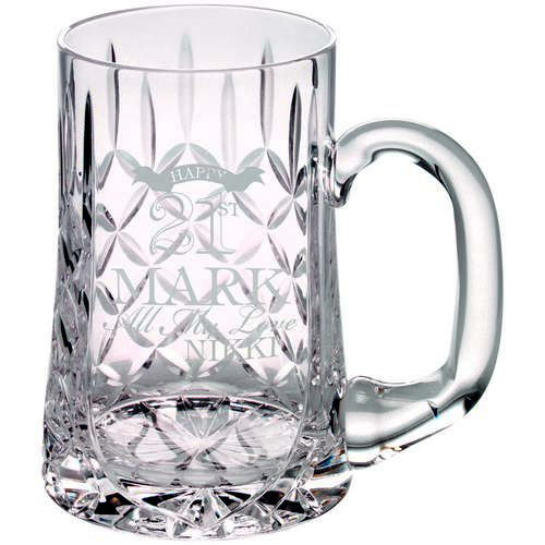 Glass Tankard 610Ml Blank Panel