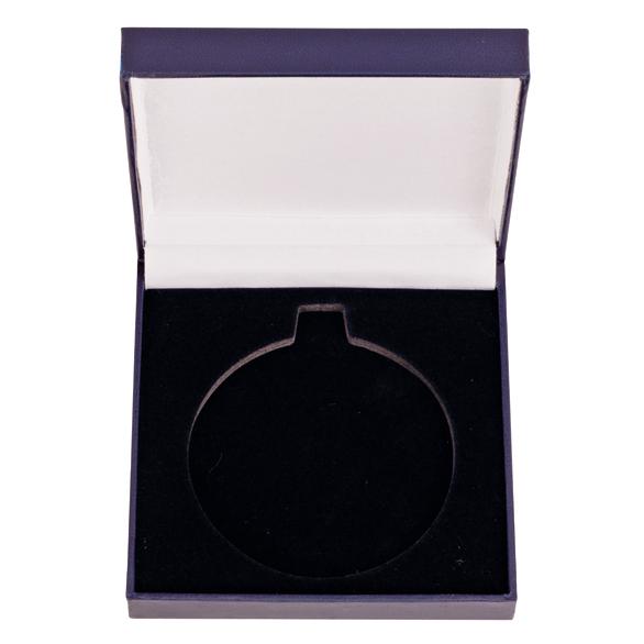 Classic Leatherette Medal Box Blue