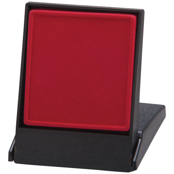 Fortress Flat Insert Medal Box Red Takes 50/60mm Medal