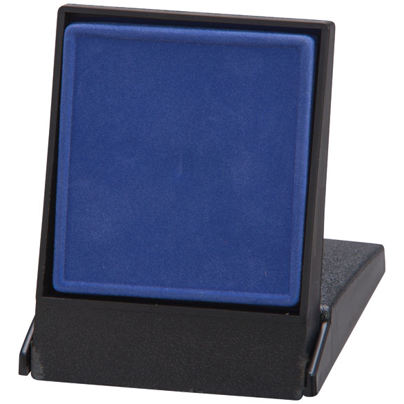 Fortress Flat Insert Medal Box Blue Takes 50/60mm Medal