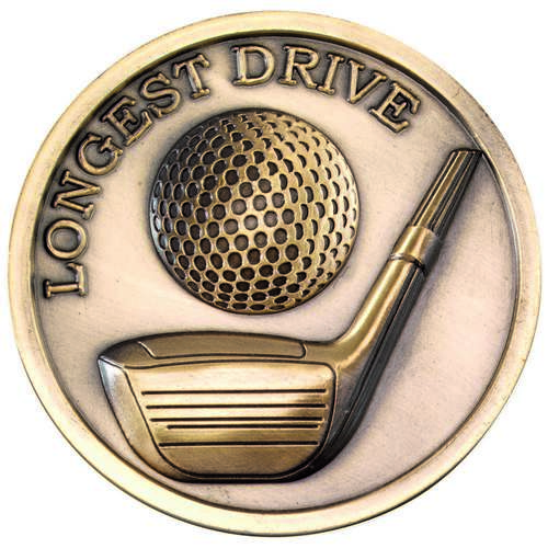 70mm Golf Medallion Longest Drive