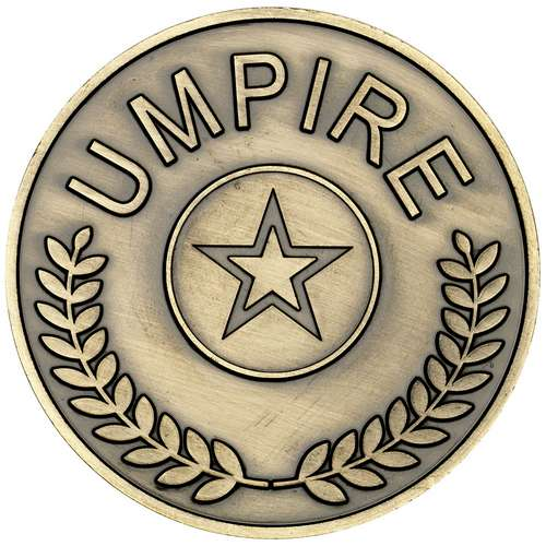 70mm Umpire Medallion