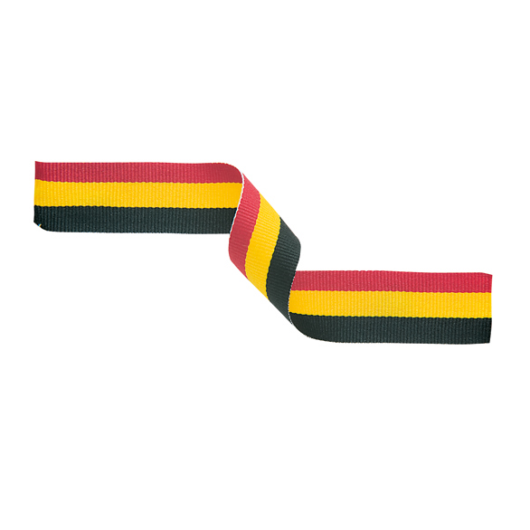 Medal Ribbon Red Yellow & Black
