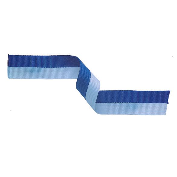 Medal Ribbon Light Blue & Blue
