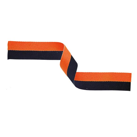 Medal Ribbon Orange & Black
